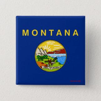 Bóton Quadrado 5.08cm Bandeira de Montana