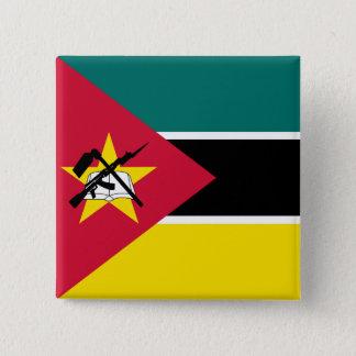 Bóton Quadrado 5.08cm Bandeira de Mozambique