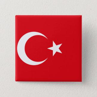 Bóton Quadrado 5.08cm Bandeira de Turquia
