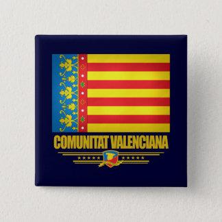 Bóton Quadrado 5.08cm Bandeira de Valência