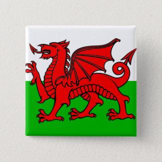 Bóton Quadrado 5.08cm Bandeira de Wales