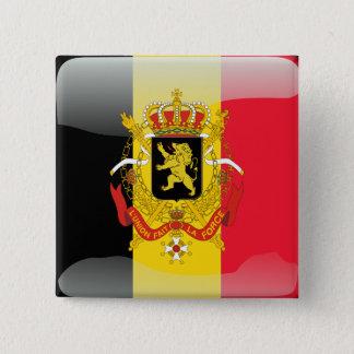 Bóton Quadrado 5.08cm Bandeira lustrosa belga