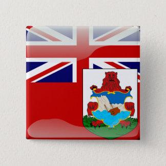 Bóton Quadrado 5.08cm Bandeira lustrosa bermudense