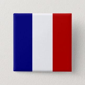 Bóton Quadrado 5.08cm Bandeira totalmente francesa