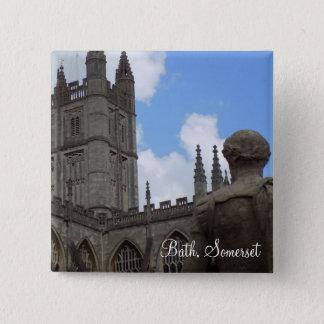 Bóton Quadrado 5.08cm Banho, botão do viagem do mundo de Somerset