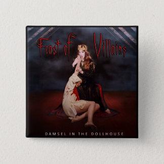 Bóton Quadrado 5.08cm Banquete do cobrir do álbum dos bandidos botão do