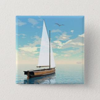 Bóton Quadrado 5.08cm Barco de navigação - 3D rendem