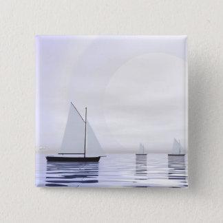 Bóton Quadrado 5.08cm Barcos de navigação - 3D rendem