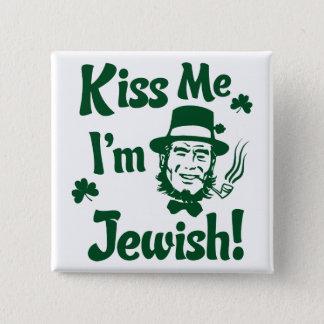 Bóton Quadrado 5.08cm Beije-me, mim são judaico