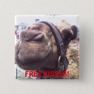 Bóton Quadrado 5.08cm Beijos do camelo