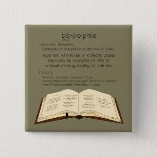 Bóton Quadrado 5.08cm Bibliophile