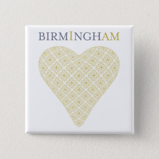 Bóton Quadrado 5.08cm Biblioteca do botão de Birmingham