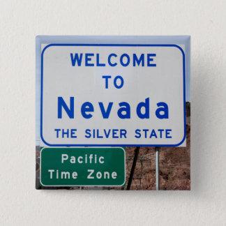 Bóton Quadrado 5.08cm Boa vinda a Nevada