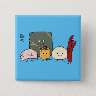 Bóton Quadrado 5.08cm Bolo chinês dos bolos da bolinha de massa de Bao