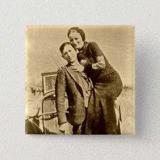 Bóton Quadrado 5.08cm Bonnie e Clyde - grupo do carrinho de mão