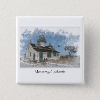 Bóton Quadrado 5.08cm Bosque pacífico Monterey Califórnia de Pinos do