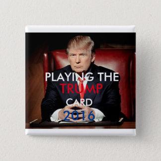 Bóton Quadrado 5.08cm Botão 2016 de Donald Trump Pinback (quadrado)