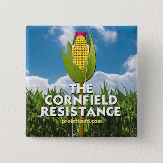 Bóton Quadrado 5.08cm Botão - a resistência do campo de milho