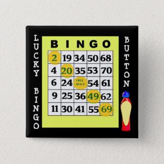 Bóton Quadrado 5.08cm Botão afortunado dos cartões verdes do botão do