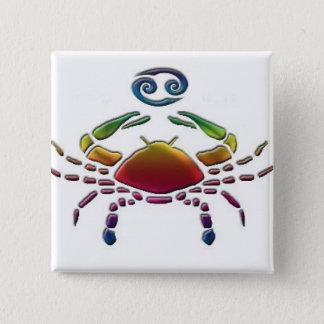 Bóton Quadrado 5.08cm Botão alegre do cancer