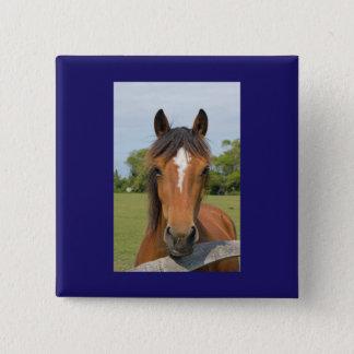 Bóton Quadrado 5.08cm Botão bonito do cavalo, pino, ideia do presente