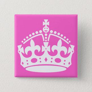 Bóton Quadrado 5.08cm Botão branco da coroa
