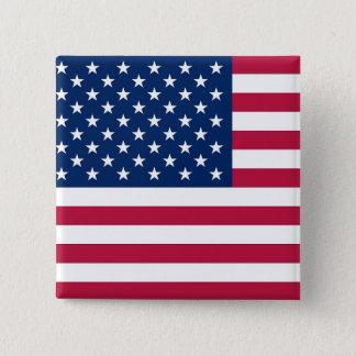 Bóton Quadrado 5.08cm Botão com a bandeira dos EUA