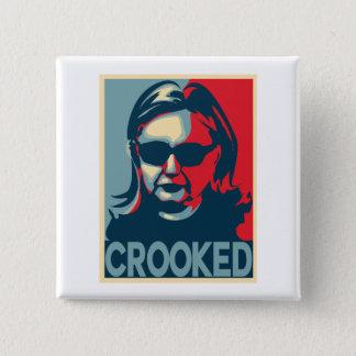 Bóton Quadrado 5.08cm Botão/crachá CURVADOS de Anti-Hillary Clinton