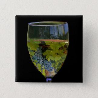 Bóton Quadrado 5.08cm Botão da arte do vinho