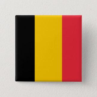 Bóton Quadrado 5.08cm Botão da bandeira de Bélgica