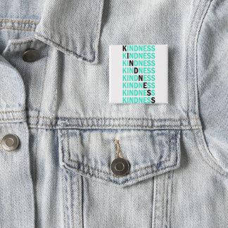 Bóton Quadrado 5.08cm Botão da bondade