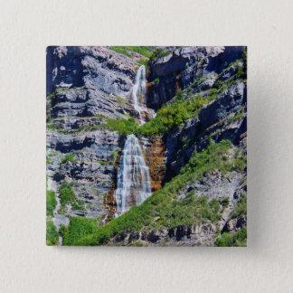 Bóton Quadrado 5.08cm Botão da cachoeira #1a- de Utá/Pin - pelo savana
