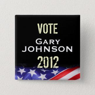 Bóton Quadrado 5.08cm Botão da campanha de Gary JOHNSON 2012 do voto