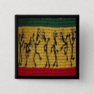 Bóton Quadrado 5.08cm botão da dança da reggae