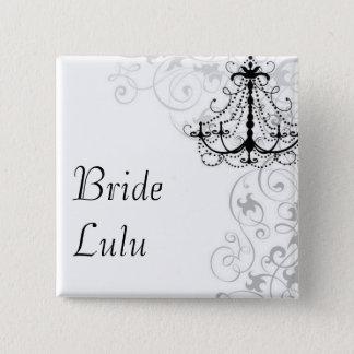 Bóton Quadrado 5.08cm Botão da noiva do candelabro