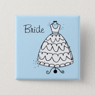 Bóton Quadrado 5.08cm Botão da noiva do suporte do vestido