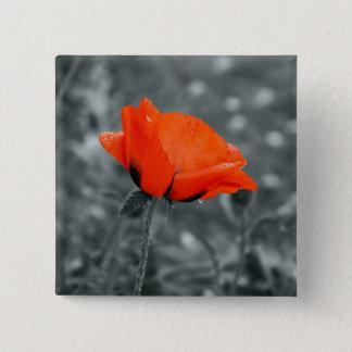 Bóton Quadrado 5.08cm Botão da papoila da chave de cor