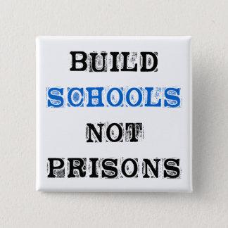 Bóton Quadrado 5.08cm Botão da Prisão-Eleição da escola da construção