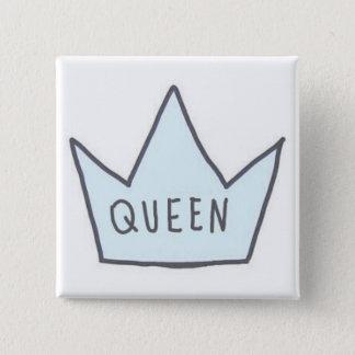 """Bóton Quadrado 5.08cm Botão da """"rainha"""""""