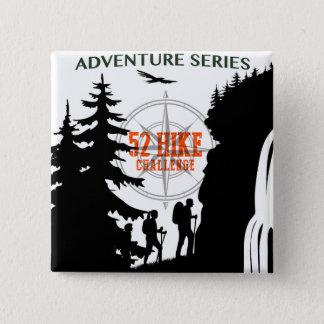 Bóton Quadrado 5.08cm Botão de 52 séries da aventura do desafio da