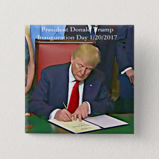 Bóton Quadrado 5.08cm Botão de assinatura dos papéis do presidente