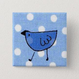 Bóton Quadrado 5.08cm Botão de Birdy
