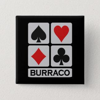 Bóton Quadrado 5.08cm Botão de Burraco