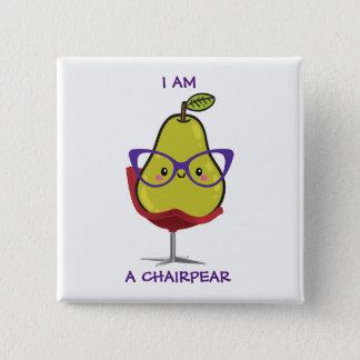 Bóton Quadrado 5.08cm Botão de ChairPear