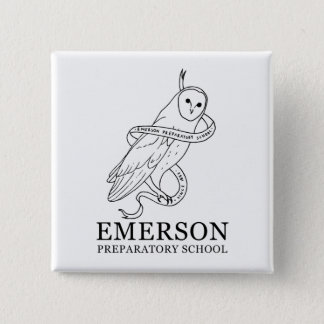 Bóton Quadrado 5.08cm Botão de Emerson (coruja)
