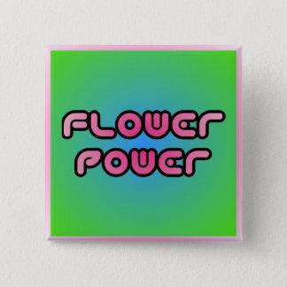 """Bóton Quadrado 5.08cm Botão de """"flower power"""""""