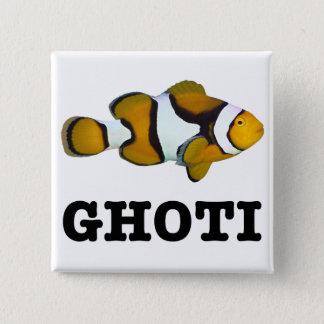 Bóton Quadrado 5.08cm Botão de GHOTI