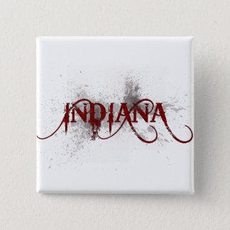 Bóton Quadrado 5.08cm Botão de Indiana do Grunge do sangramento