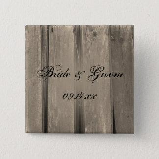 Bóton Quadrado 5.08cm Botão de madeira do casamento do celeiro do país