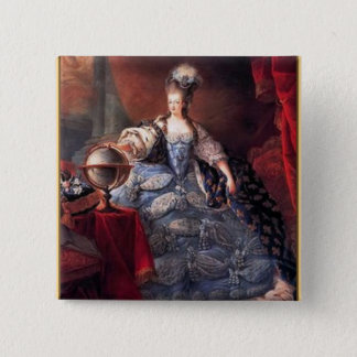Bóton Quadrado 5.08cm Botão de Marie Antoinette